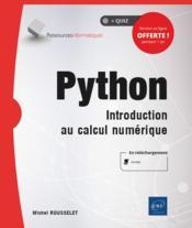 Python ; introduction au calcul numérique - Couverture - Format classique