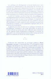 Les Politiques De Developpement Local ; Approche Sociologique ; 2e Edition - 4ème de couverture - Format classique
