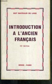 Introduction Ancien Francais - Couverture - Format classique