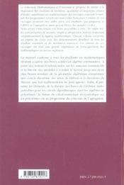 Elements D'Algebre Commutative ; Niveau M1 - 4ème de couverture - Format classique