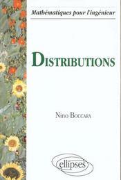 Distributions Mathematiques Pour L'Ingenieur - Intérieur - Format classique