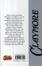 Claymore T.11 ; la lignée du paradis - 4ème de couverture - Format classique