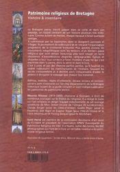 Patrimoine religieux de bretagne - 4ème de couverture - Format classique
