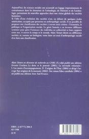 Elements De Classification Des Societes - 4ème de couverture - Format classique