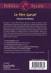 Le Père Goriot - 4ème de couverture - Format classique
