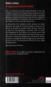 L'apparence de la chair - 4ème de couverture - Format classique