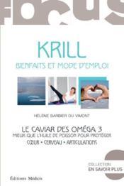 Krill ; le caviar des oméga 3 - Couverture - Format classique