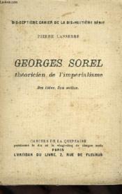 Georges Sorel, Theoricien De L'Imperialisme, Ses Idees, Son Action - Couverture - Format classique