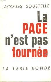 La Page N'Est Pas Tournee - Couverture - Format classique