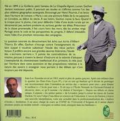 Lucien Gachon ; le pédagogue de la ruralité - 4ème de couverture - Format classique