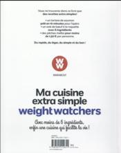 Ma cuisine extra simple Weight Watchers - 4ème de couverture - Format classique