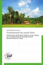 Transmission du savoir-faire - Couverture - Format classique