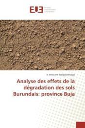 Analyse des effets de la degradation des sols burundais: province buja - Couverture - Format classique