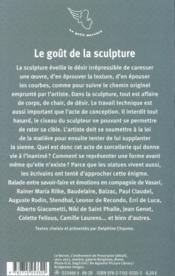 Le goût de la sculpture - 4ème de couverture - Format classique
