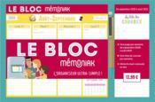 Le bloc memoniak (édition 2020/2021) - Couverture - Format classique