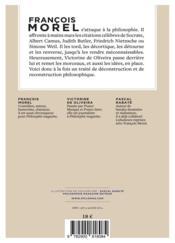 Au comptoir des philosophes ; les grandes citations revues et corrigées - 4ème de couverture - Format classique