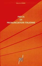 Precis de prononciation italienne - Couverture - Format classique
