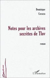 Notes pour les archives secrètes de Tlov - Couverture - Format classique