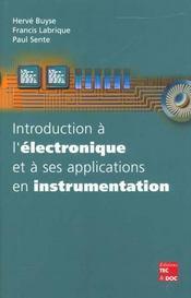 Introduction a l'electronique et a ses applications en instrumentation - Intérieur - Format classique