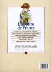 L'histoire de france - 4ème de couverture - Format classique
