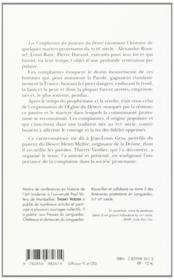 Complaintes des pasteurs du désert - 4ème de couverture - Format classique