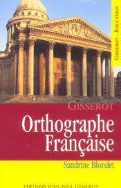 Orthographe Francaise - Couverture - Format classique