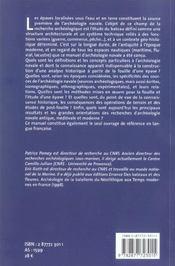 L'Archeologie Navale - 4ème de couverture - Format classique