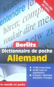 Dictionnaire de poche Berlitz ; français-allemand / allemand-français - Intérieur - Format classique