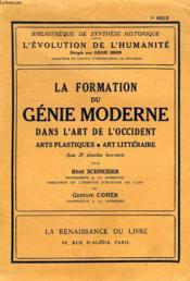 La Formation Du Genie Moderne Dans L'Art De L'Occident, Arts Plastiques, Art Litteraire - Couverture - Format classique