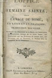 L'Office De La Semaine Sainte Selon L'Usage De Rome En Latin Et En Francais - Couverture - Format classique