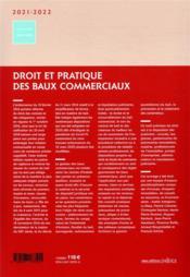Droit et pratique des baux commerciaux (édition 2021/2022) - 4ème de couverture - Format classique
