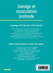 Gainage et musculation profonde - 4ème de couverture - Format classique