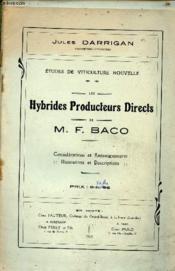 Etudes de Viticulture nouvelle - Les Hybrides producteurs directs de M.F.Baco. - Couverture - Format classique