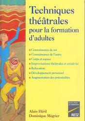 Techniq Theatrale Form Adultes - Intérieur - Format classique