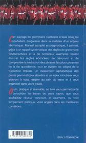 For A Better English Resoudre Les Difficultes De La Grammaire Anglaise - 4ème de couverture - Format classique
