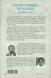Contes Comoriens De Ngazidja ; Au-Dela Des Mers - 4ème de couverture - Format classique