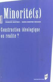 Minorites: construction ideologique ou realite - Intérieur - Format classique