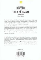Fabuleuse histoire du tour de france (la) - 4ème de couverture - Format classique