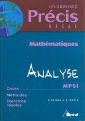 Precis d'analyse et de geometrie mpsi - Intérieur - Format classique