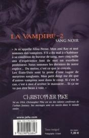 La vampire t.2 ; sang noir - 4ème de couverture - Format classique