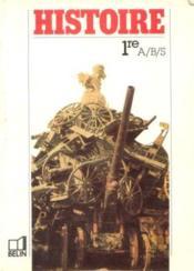 Histoire iere abs / 1988 - Couverture - Format classique