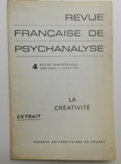 LA CREATIVITE. Créativité et déviation sexuelle. - Couverture - Format classique