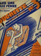 Couchette N°3 : Quand Une Jolie Femme - Piano Et Chant. - Couverture - Format classique