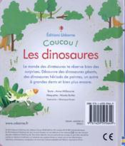 COUCOU ! ; les dinosaures - 4ème de couverture - Format classique