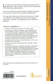 Droit administratif et institutions administratives 2015-2016 ; licence, master, concours (3e édition) - 4ème de couverture - Format classique