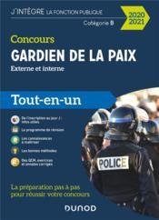 Concours gardien de la paix ; catégorie B ; externe et interne (édition 2020/2021) - Couverture - Format classique