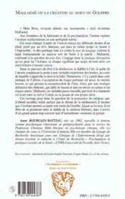 Mallarme Ou La Creation Au Bord Du Gouffre - 4ème de couverture - Format classique