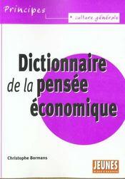 Dictionnaire de la pensee economique - Intérieur - Format classique