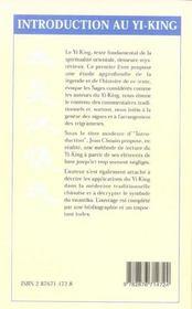 Introduction Au Yi-King - 4ème de couverture - Format classique