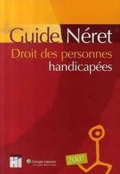 Guide néret droit des personnes handicapées (édition 2007) - Intérieur - Format classique